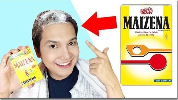 maizena alisar pelo
